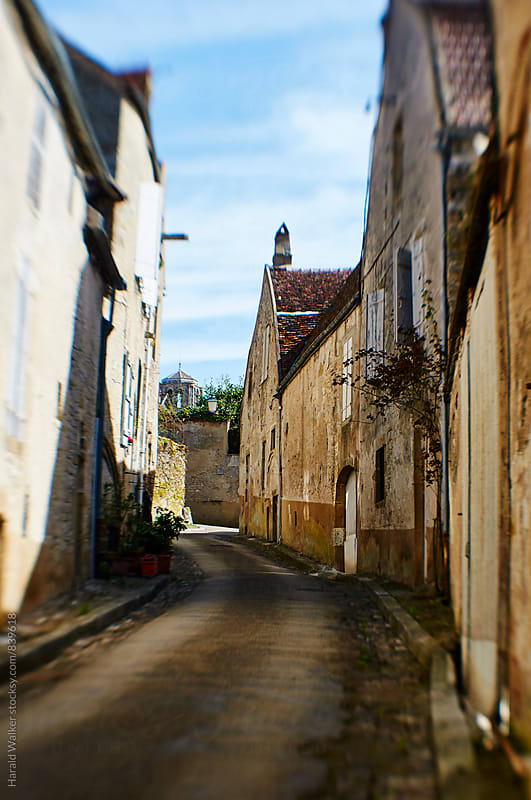 Street in Vezelay by Harald Walker for Stocksy United