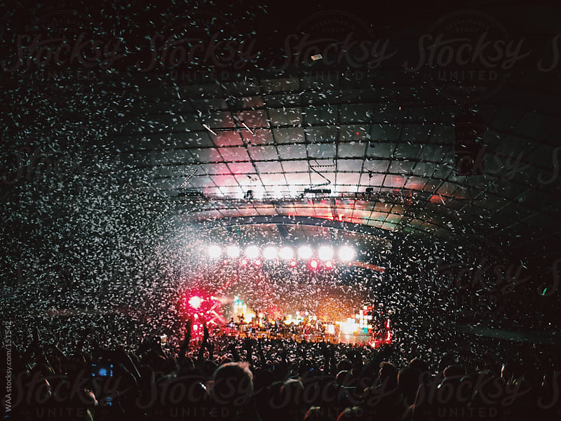 Confetti Released at Concert  by WAA for Stocksy United