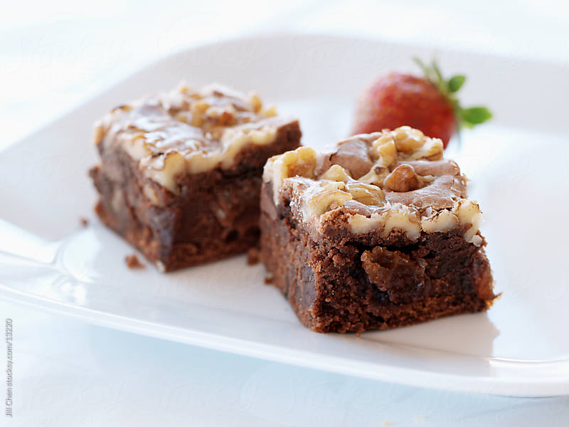Nutty Brownies by Jill Chen for Stocksy United