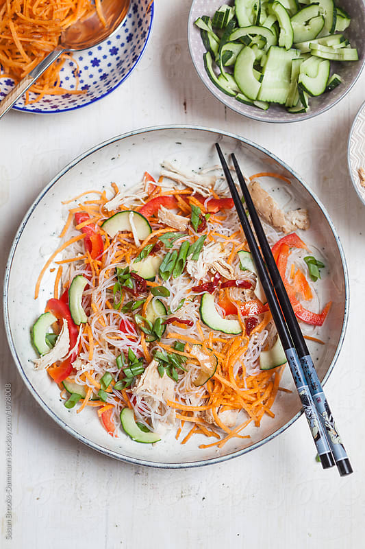 Vermicelli-Salad by Susan Brooks-Dammann for Stocksy United