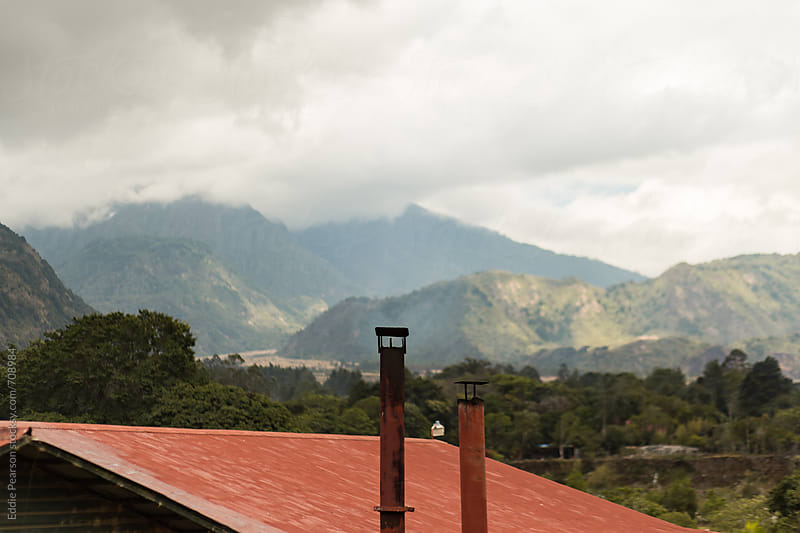 Top of a house on a coffee farm in Panama by Eddie Pearson for Stocksy United