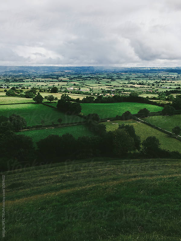 British Countryside Seen From Glastonbury Tor (England) by VISUALSPECTRUM for Stocksy United