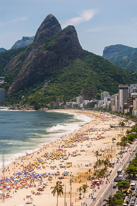 Ipanema Beach Rio de Janeiro, Brazil by Raymond Forbes LLC for Stocksy United