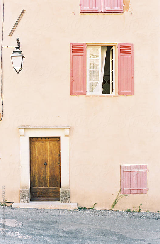 A beautiful wall in the small village of Moissac-Bellevue, Provence by Atle Rønningen for Stocksy United
