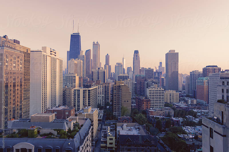 Chicago, Illinois at Twilight by Geoffrey Hammond for Stocksy United