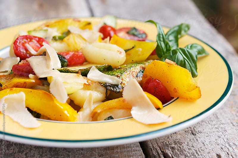 Gnocchi with Summer Vegetables by Harald Walker for Stocksy United