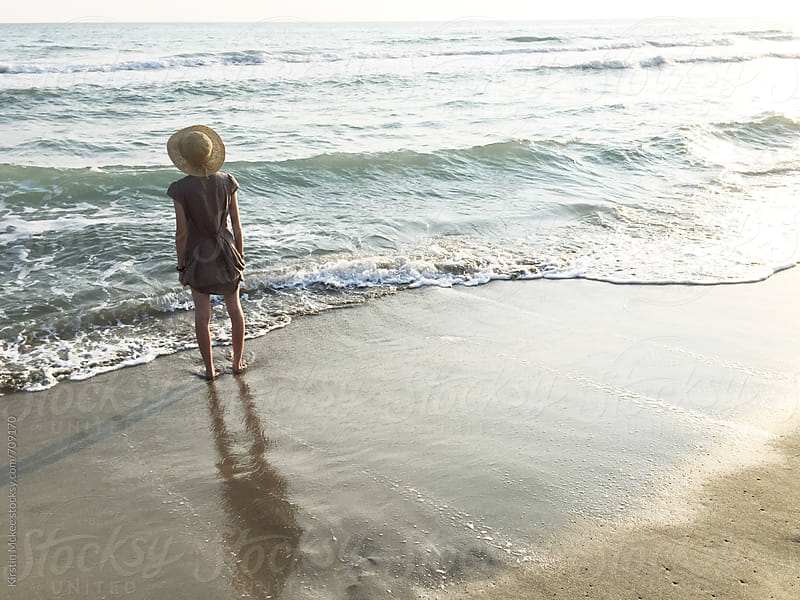 Girl at Patara Beach by Kirstin Mckee for Stocksy United