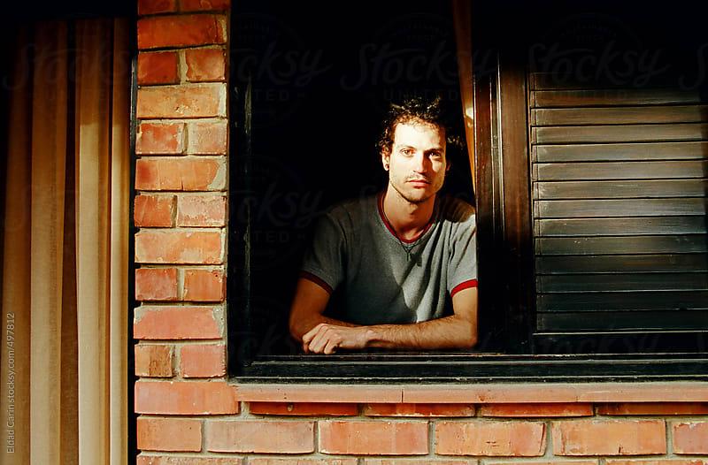 Handsome Man Americana Portrait by Eldad Carin for Stocksy United