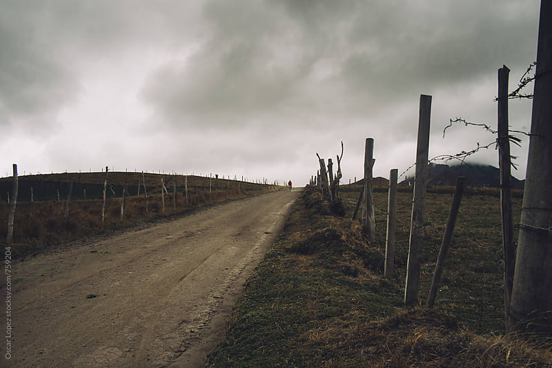 A Cloudy Road by Oscar Lopez for Stocksy United