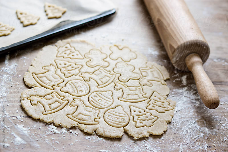 Food: Raw christmas cookies by Ina Peters for Stocksy United