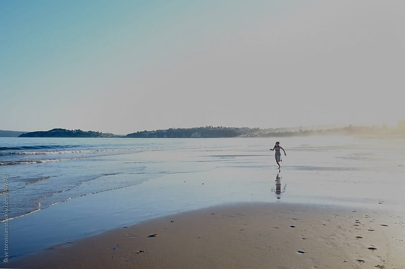 Beach run by skye torossian for Stocksy United