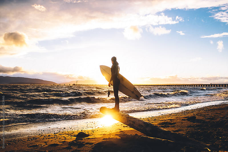 Sunset Surf by Bronson Snelling for Stocksy United