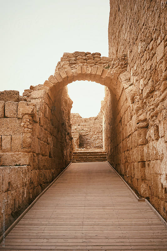 Arch in Caesarea, Israel by B. Harvey for Stocksy United