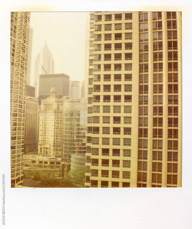 Chicago, Illinois Skyscrapers Photographed With Expired Polaroid Film by ALICIA BOCK for Stocksy United