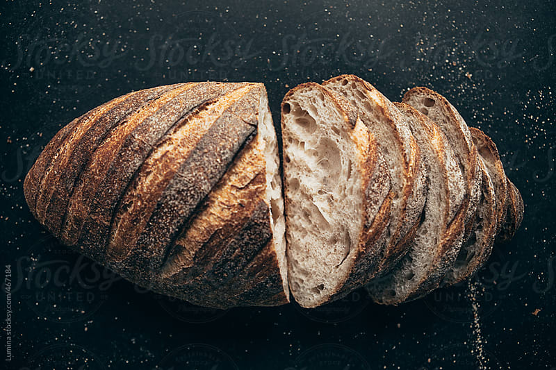 Loaf of Bread on Black by Lumina for Stocksy United