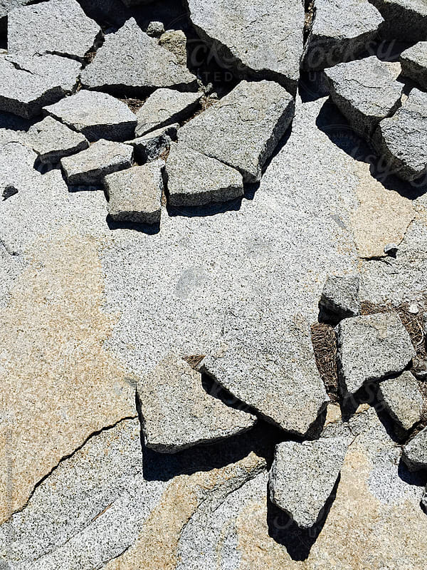 Fractured slabs of granite rock, High Sierra, CA by Paul Edmondson for Stocksy United