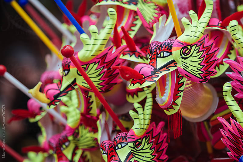 Decorations for chinese new year's eve. Thailand. by Mauro Grigollo for Stocksy United