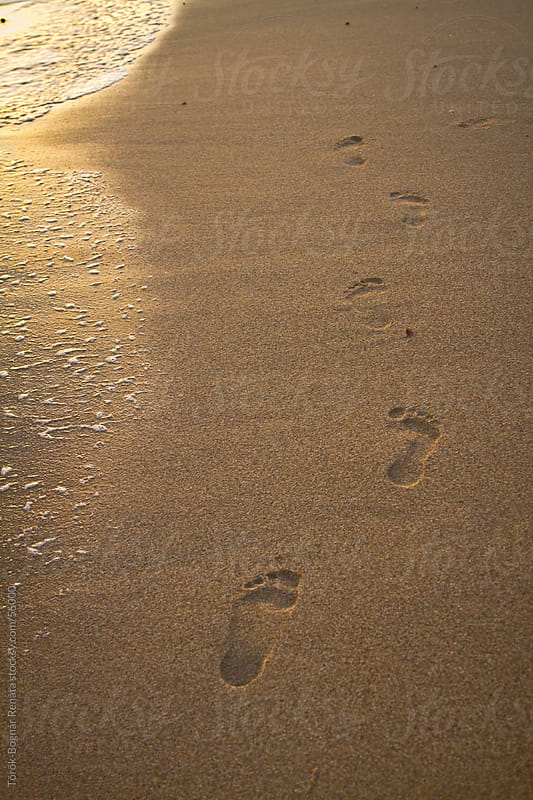 Footprints in the sand by Török-Bognár Renáta for Stocksy United