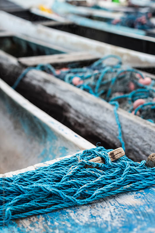 Details of a fisherman boat. Brazil. by Mauro Grigollo for Stocksy United