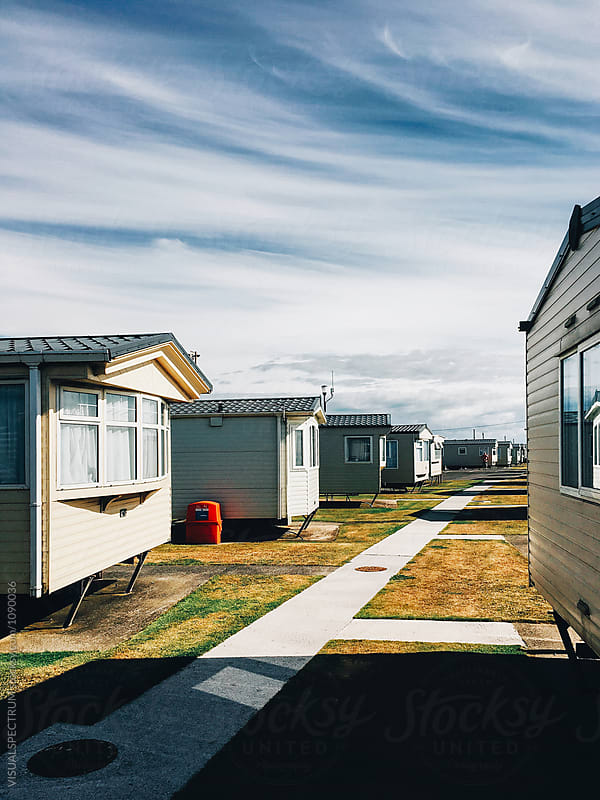 Summer in the UK - Caravans Parked at British Seaside Resort by VISUALSPECTRUM for Stocksy United