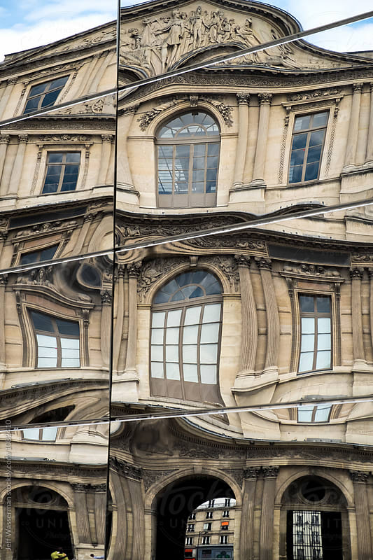 Building Refection at Louvre in Paris by Jeff Wasserman for Stocksy United