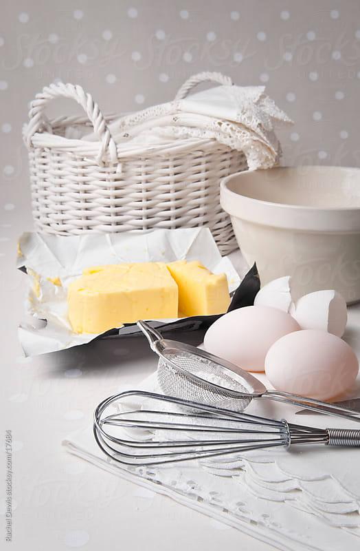 Baking ingredients by Rachel Dewis for Stocksy United