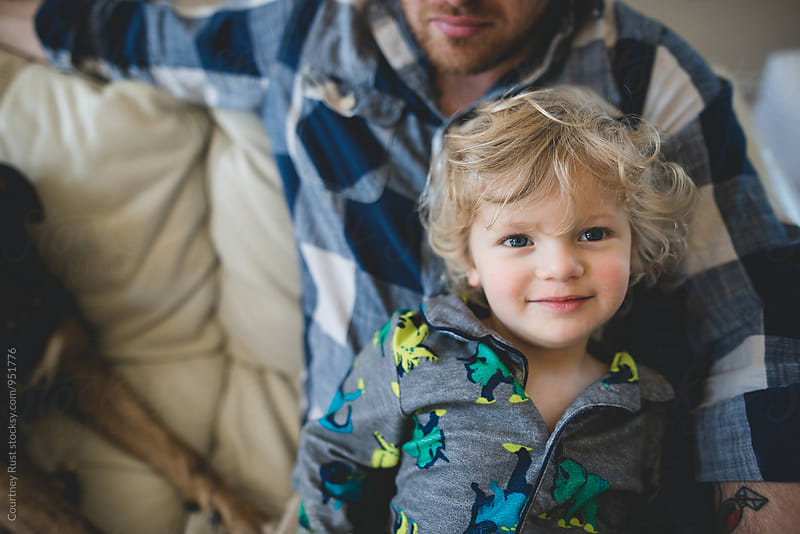 Daddy and son by Courtney Rust for Stocksy United