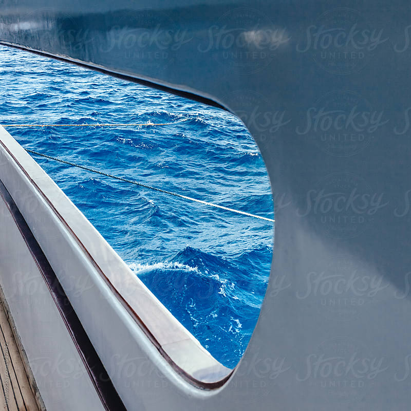 Cruise ship deck with sea view by Ilya for Stocksy United