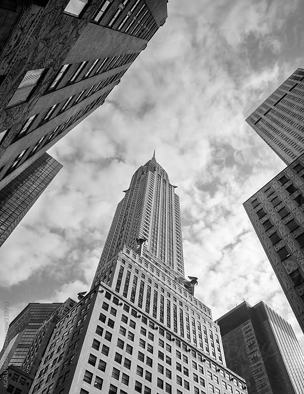 Chrysler Building from the street by ACALU Studio for Stocksy United