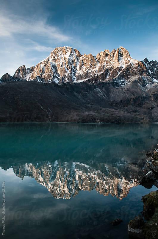Lake and mountains, Gokyo, Everest Region, Sagarmatha National Park, Nepal. by Thomas Pickard for Stocksy United
