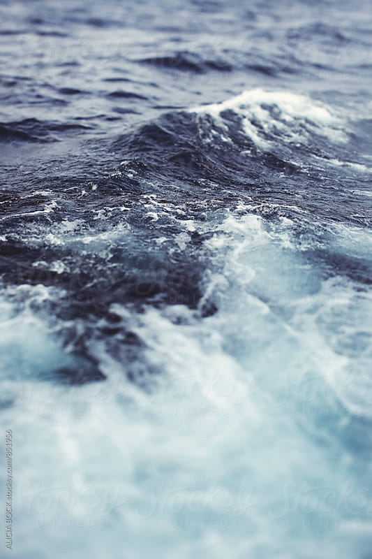 Close Up Of Wavey Blue Sea Water by ALICIA BOCK for Stocksy United