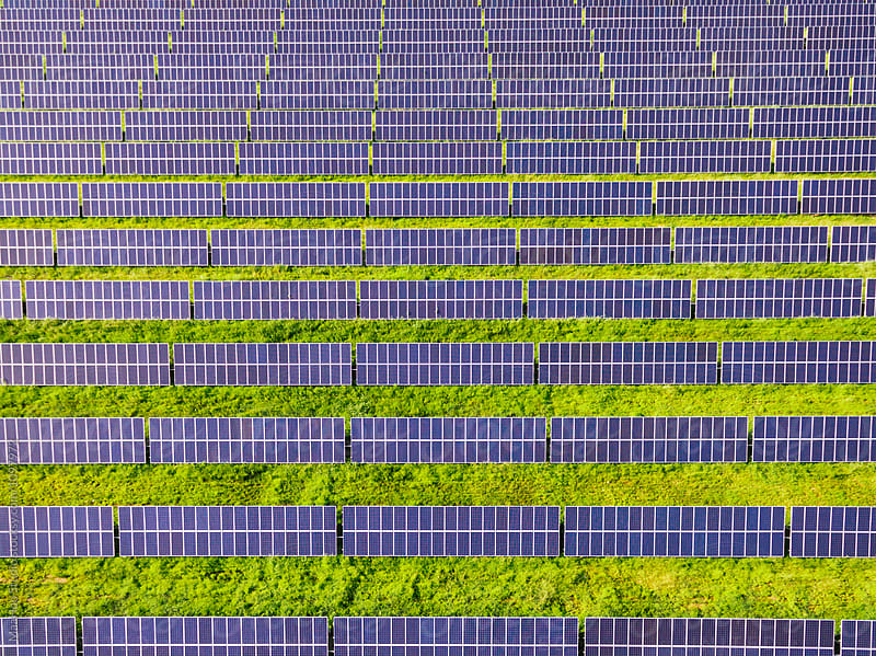 Aerial view of Solar energy by MaaHoo Studio for Stocksy United