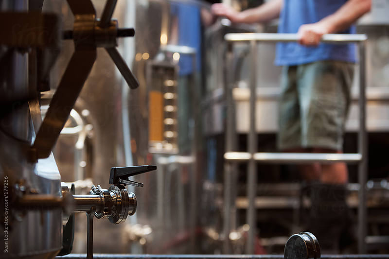 Beer: Focus On Fermentation Tank Valve by Sean Locke for Stocksy United