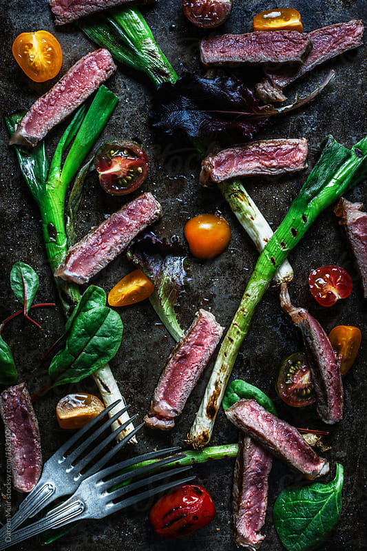 Grilled steak salad. by Darren Muir for Stocksy United