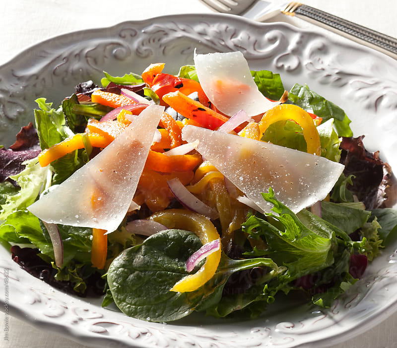 Spring salad by JIm Bowie for Stocksy United