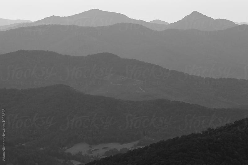 Abstract view of the Smoky Mountains, black and white by Adam Nixon for Stocksy United