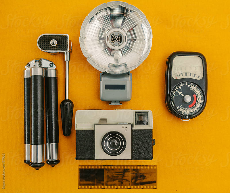 Vintage camera and accessories. by kkgas for Stocksy United
