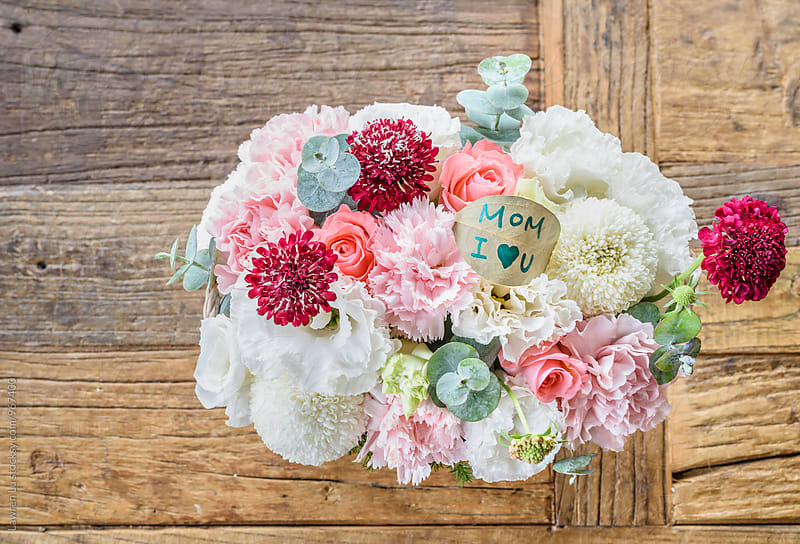 Beautiful bouquet of flowers for mother's day by Lawren Lu for Stocksy United