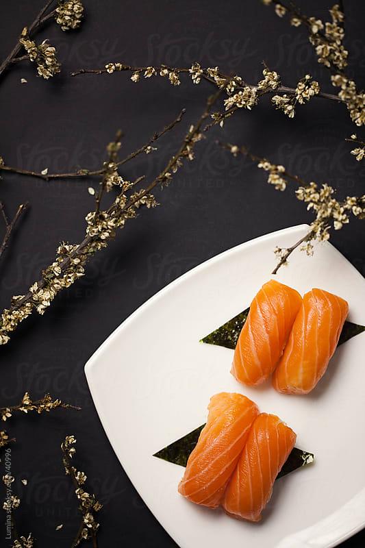 Salmon Sushi by Lumina for Stocksy United