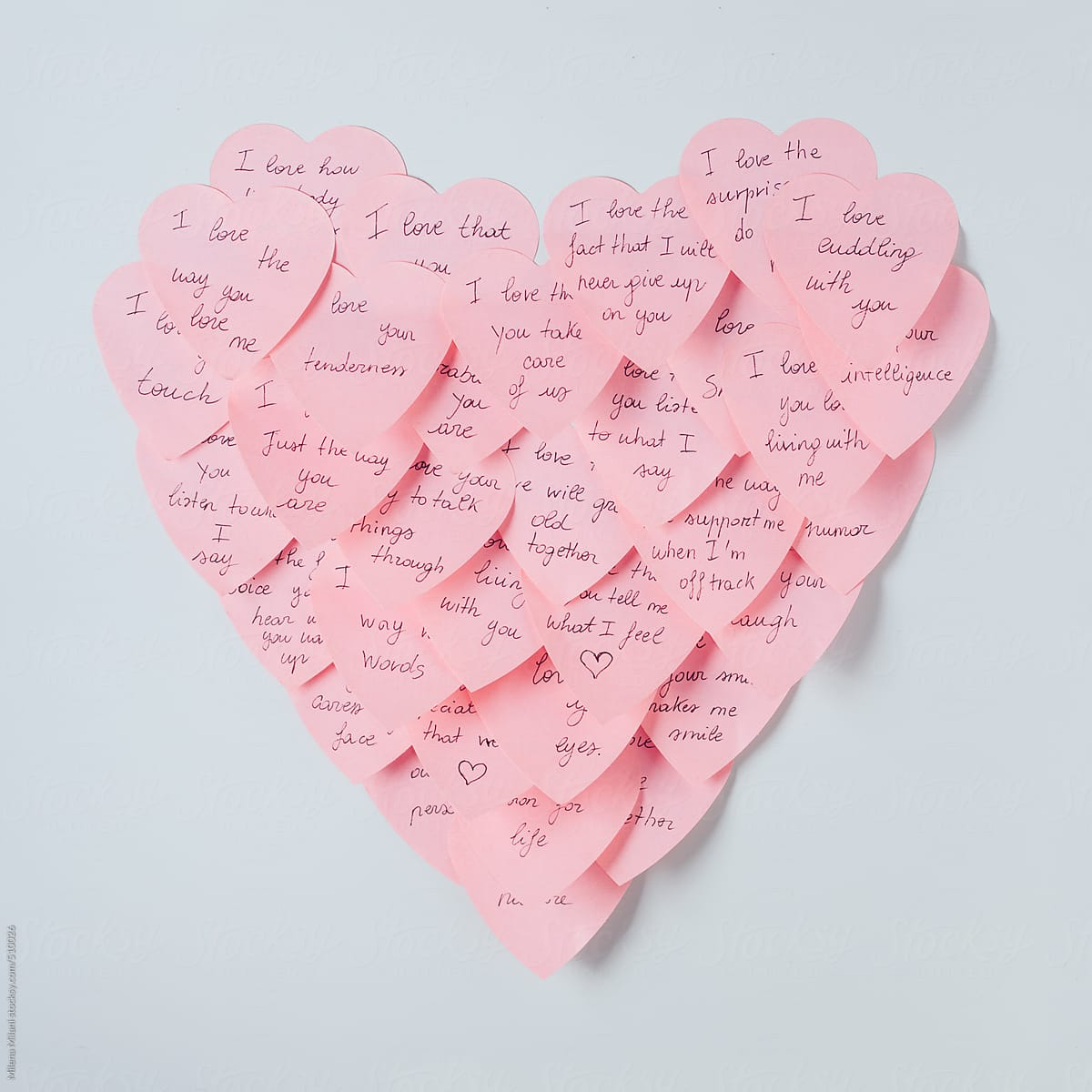 sticky notes heart