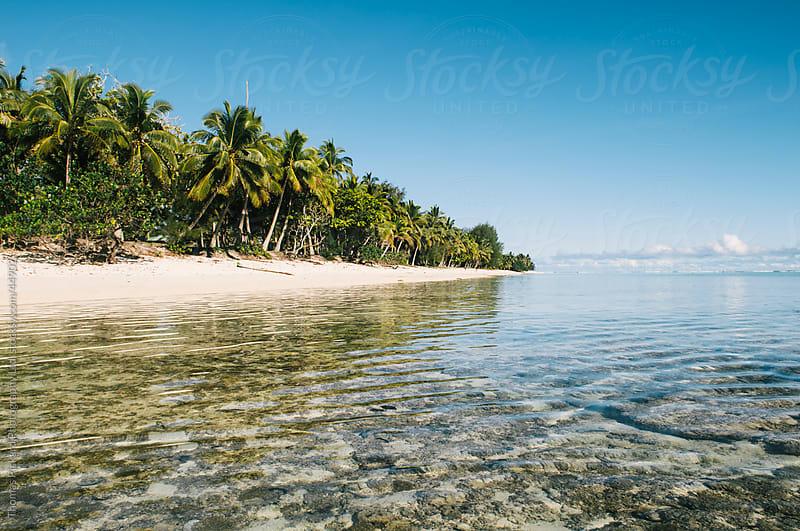 Tropical island beach and lagoon, Rarotonga Island, Cook Islands by Thomas Pickard Photography Ltd. for Stocksy United