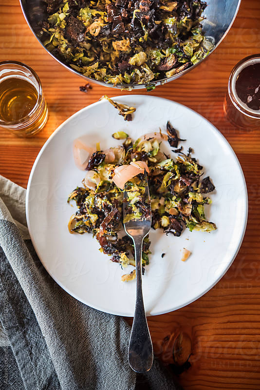Roasted Brussel Sprouts by Aubrie LeGault for Stocksy United