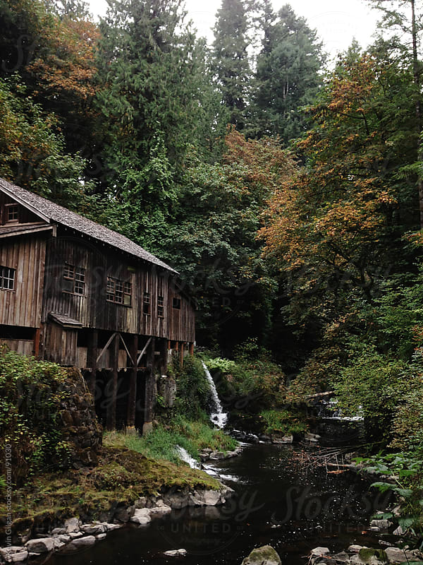 Cedar Creek Grist mill by Kevin Gilgan for Stocksy United