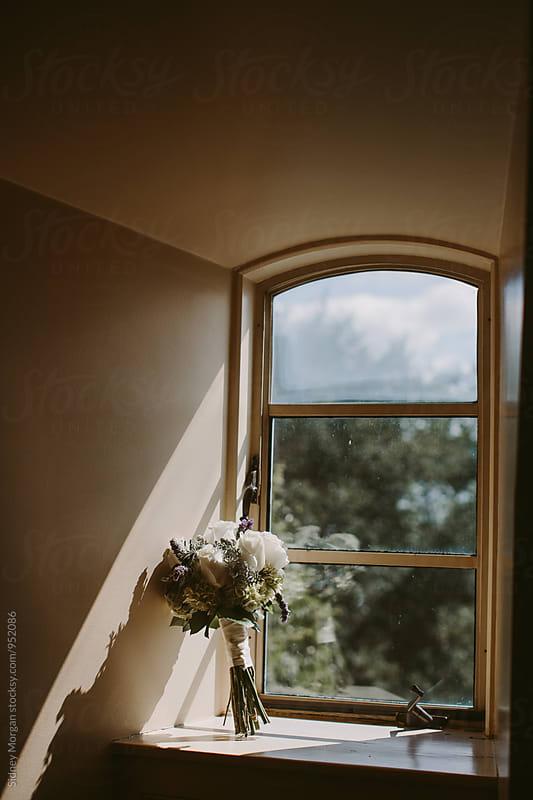 Wedding Bouquet in Windowsill by Sidney Morgan for Stocksy United