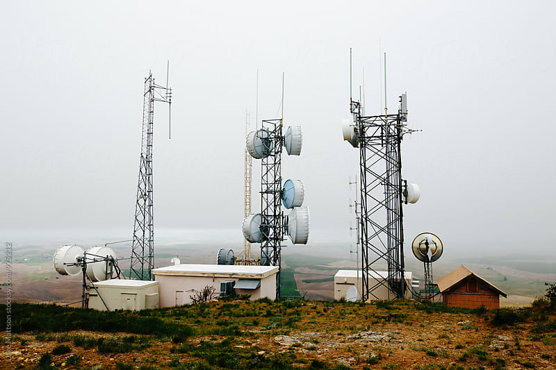 Radio And Cell Communication Towers At Top of Steptoe Butte by Luke Mattson for Stocksy United