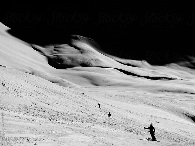 Ski freeriding in the alps by rolfo for Stocksy United