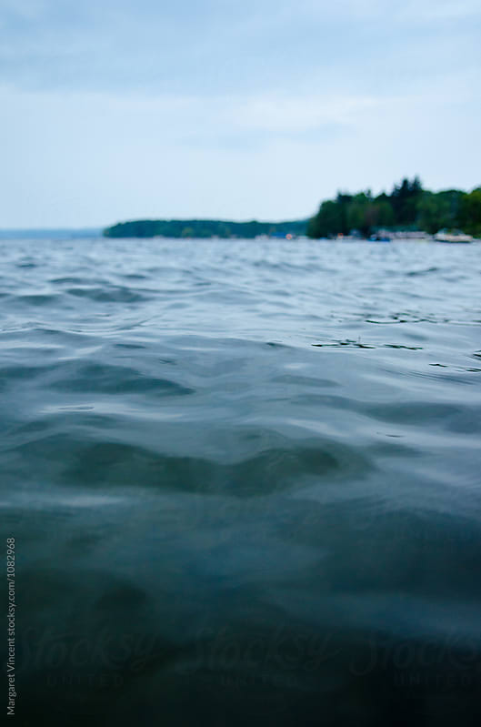 surface-level view of a lake by Margaret Vincent for Stocksy United