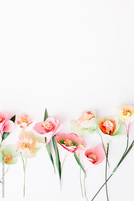 Paper Flowers Arrangement  by Katarina Radovic for Stocksy United