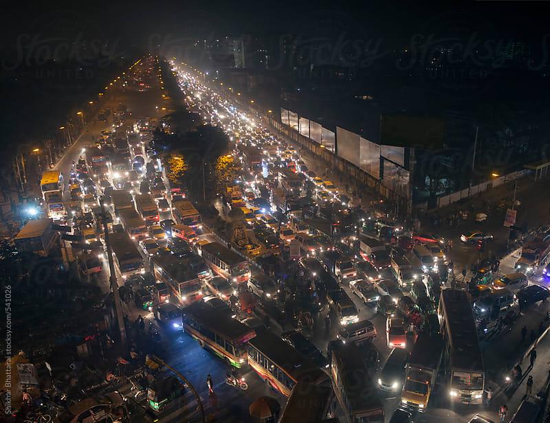 Traffic jam in the streets of Dhaka. by Shikhar Bhattarai for Stocksy United