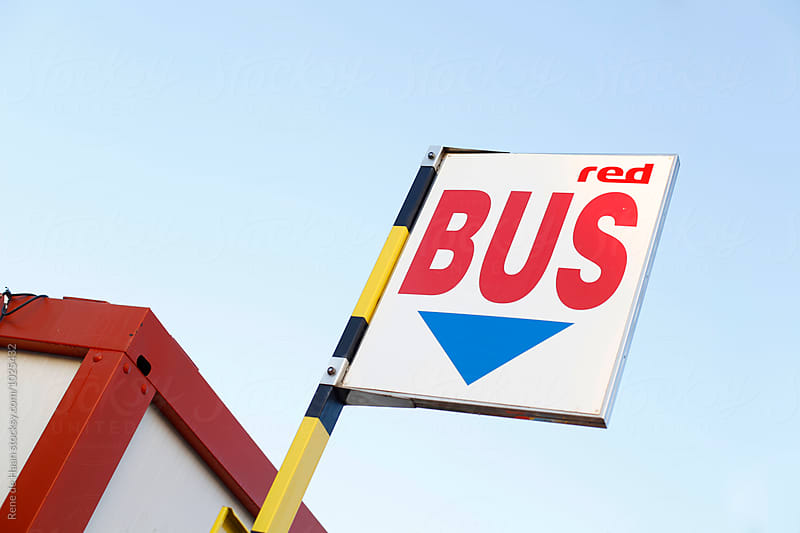 bus stop sign by Rene de Haan for Stocksy United